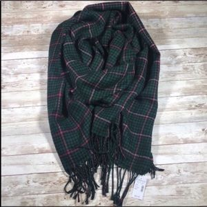 Maurices Check Print Fringe Scarf